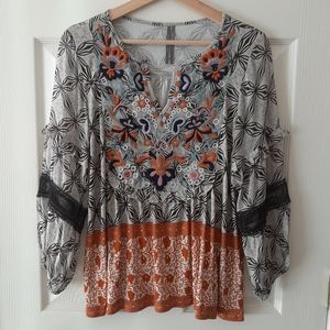 Anthropologie Terri Embroidered Top Size Small